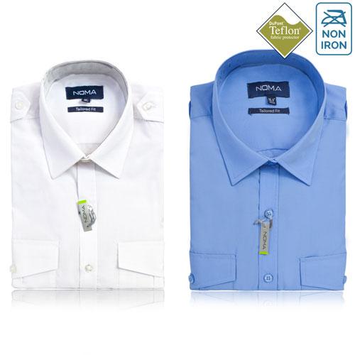 NSHA04T-Noma Men's Pilot Shirt S/S-ALL