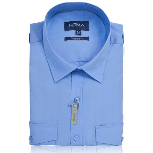 NSHA04T-Noma Men's Pilot Shirt S/S-blue