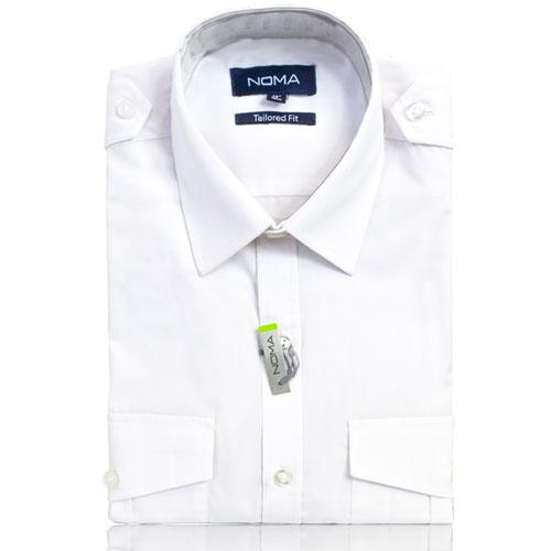 NSHA04T-Noma Men's Pilot Shirt S/S-white