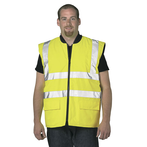 Hi Vis Reversible Bodywarmer-WBWA469-yellow