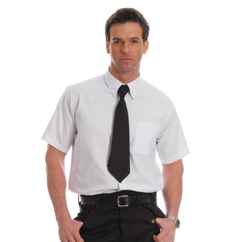 Oxford Shirt Short Sleeve-WSHA06-white