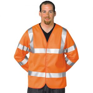 Hi Vis Long Sleeve Vest-WWCLA473-orange