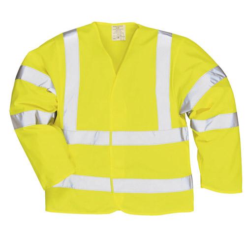 Hi Vis Long Sleeve Vest-WWCLA473-yellow