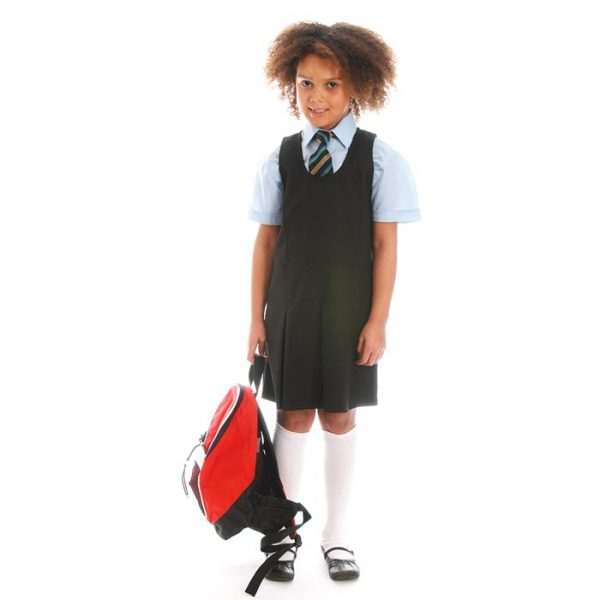 Girls' Pleated-Front Pinafore - CPIG02
