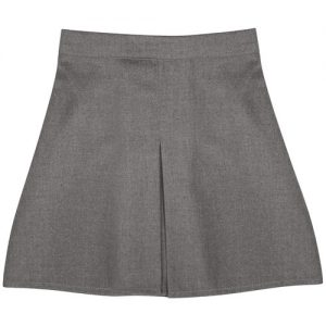 Girls' Front Box Pleat School Skirt - Primary - CSKG02-grey