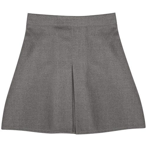 Girls' Front Box Pleat School Skirt - Primary - CSKG02-grey