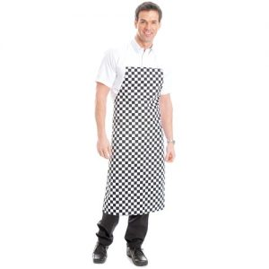 210gsm Value Bib Chessboard Apron with Pocket - WAPA08