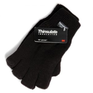 Thinsulate Lined Knitted Fingerless Gloves - WGLA03