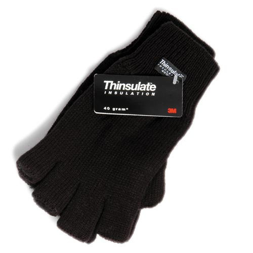 Knitted Fingerless Glove (Thinsulate Lined) - WGLA03