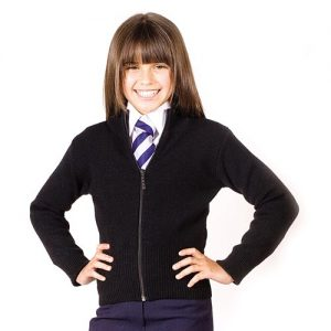 Girls' Knitted Stretch Zip Cardigan - CCAG02