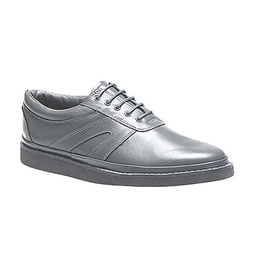 'LEVEN' Unisex Leather Lace-Up - PFOA635-grey