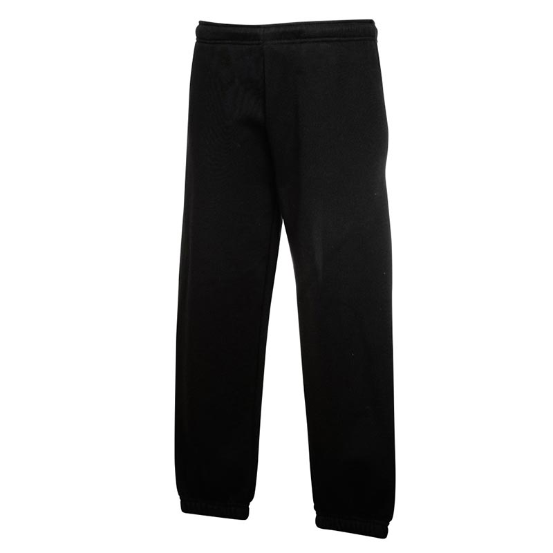 KIDS Classic Elasticated Cuff Jog Pants-SJK-64-051-black