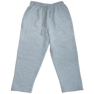 Kids Open Bottom Jog Pants-TJK02-GREY