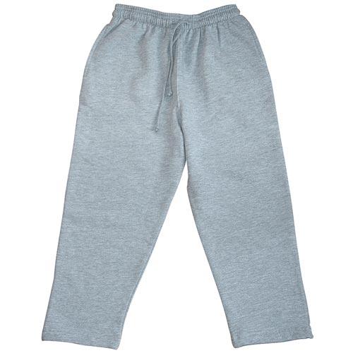 Kids Open Bottom Jog Pants-TJK02-GREY