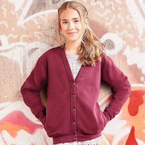 295g 50/50 PC Girls Sweatshirt Cardigan - 295g 50/50 PC Girls Sweatshirt Cardigan - JCK273-model2