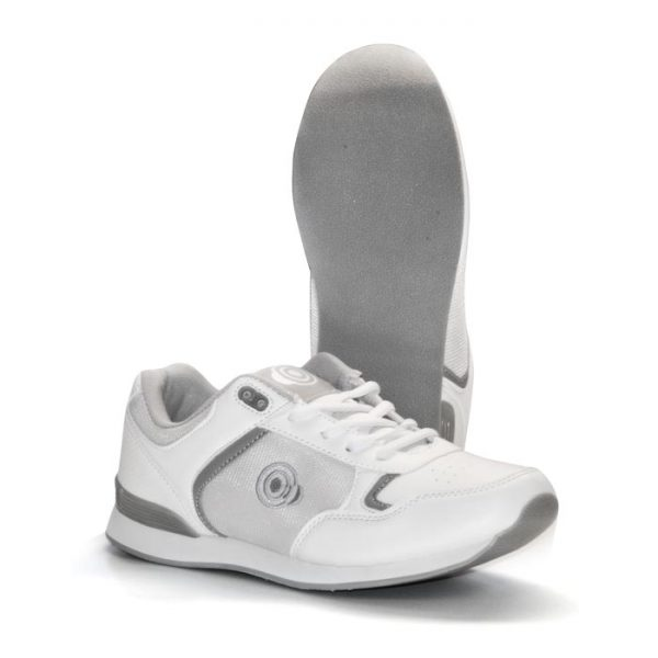 'KITTY' Touch Gastening Trainer-Style Ladies Bowling Shoe-PFOL838-WHITE