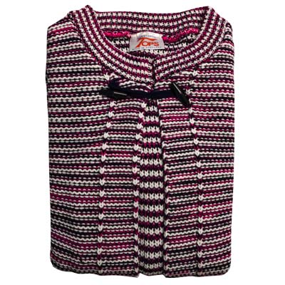 Cardigan Long Sleeves Toggle on Neck VCAA82-pink