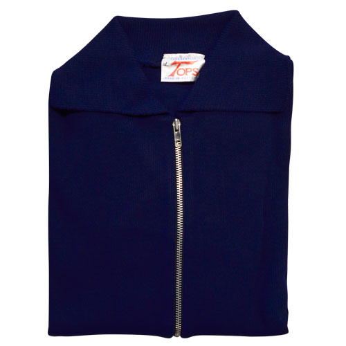 Jumper with Front Zip and Collar VJUA16-air-force-blue