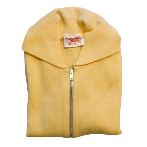 Jumper with Front Zip and Collar VJUA16-yellow