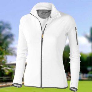 245gsm Ladies Mani Powerfleece Stretch Bowling Jacket - EL031MBOWLS