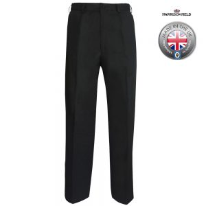 Mens Police Poly-Cotton Trousers Black - WTRPA49