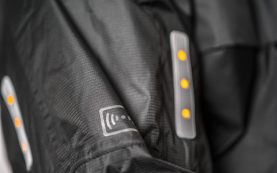 11. VISIJAX COMMUTER Jacket in Black - Turn Signals