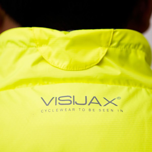 3. VISIJAX COMMUTER Jacket in Yellow - Collar