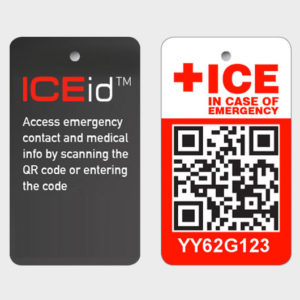 ICEid Tag (front & back)