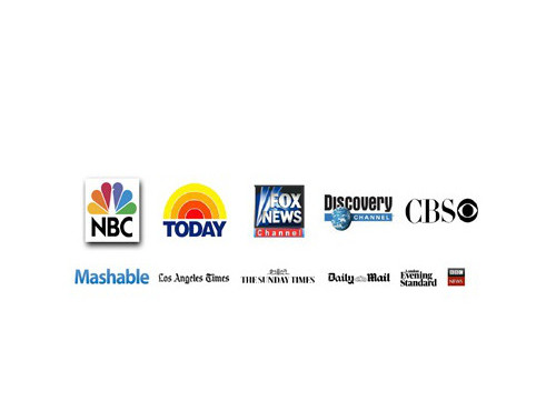 logos of media companies who have reviewed visijax