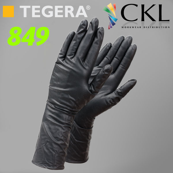 TEGERA®849 by Ejendals: Strong Black Nitrile Food (ESD, Chem./Splash)