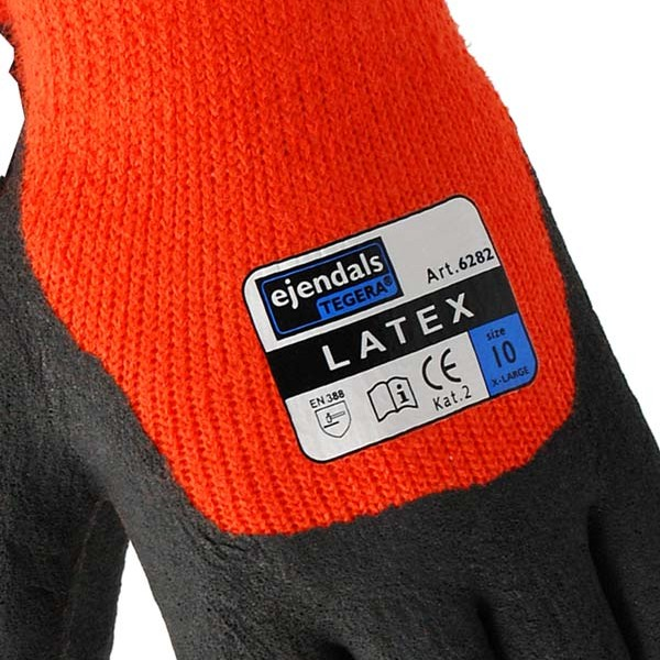 TEGERA®6282 by Ejendals: Synthetic glove, Winter-lined, Latex foam, Cat. II for allround work