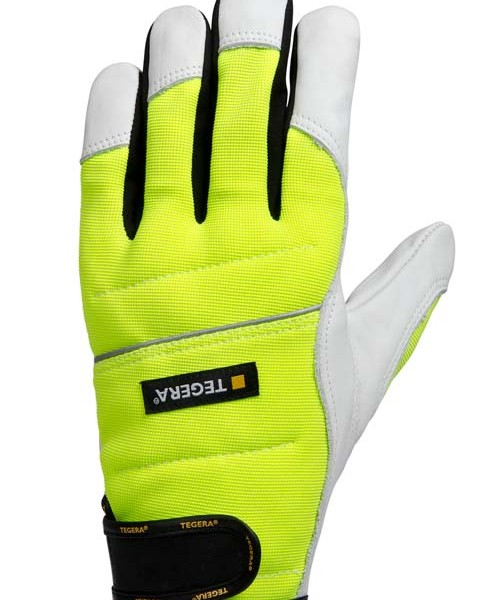 TEGERA®951: Chainsaw Dyneema/Leather Ergonomic Vis Gloves