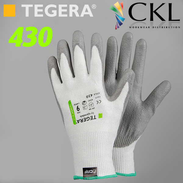 TEGERA®430: Value CRF Fibre Tech. Cut3 PU Palm-Dipped Gloves