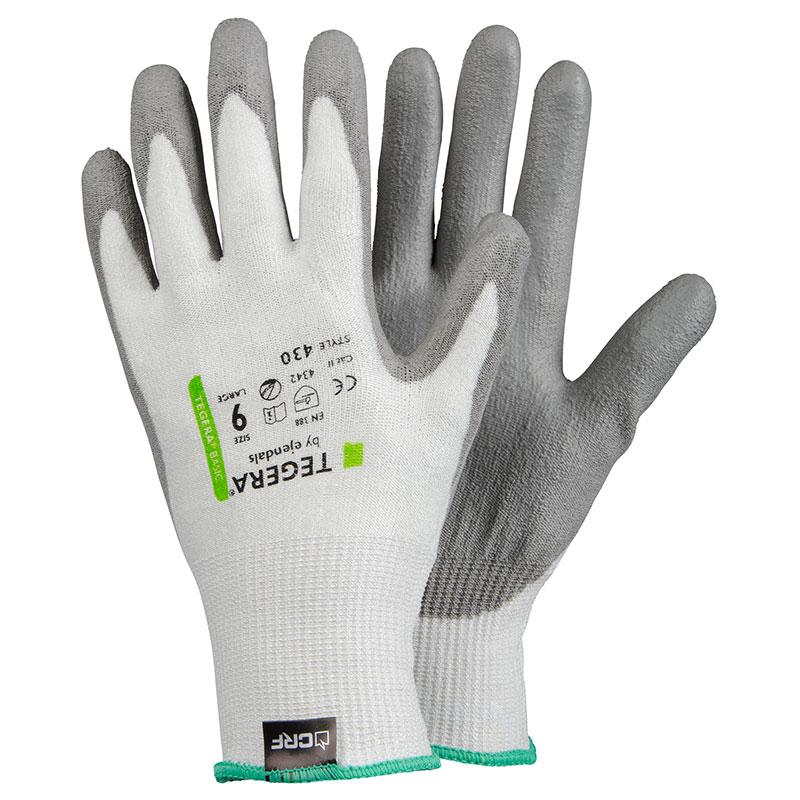TEGERA430 Value CRF Fibre Tech CAT2 Cut3 PU Cut Resistant Gloves