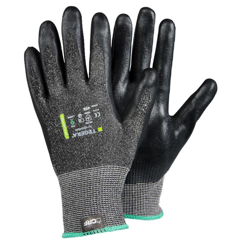 TEGERA®450 by Ejendals: High Dexterity Cut 5 CRF® Nitrile-Foam Palm-Dipped Glove