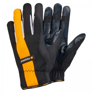 TEGERA9102 Diamond Grip Pattern Unlined Synthetic Leather Gloves