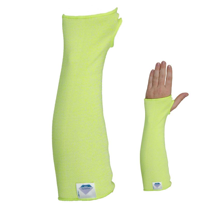 TEGERA98 Hi Vis Light CAT2 Cut3 XLong Sleeve Cut Resistant Gloves