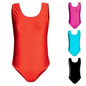200gsm Girls Hi-Stretch Shiny Sleeveless Leotards - DLTG01S