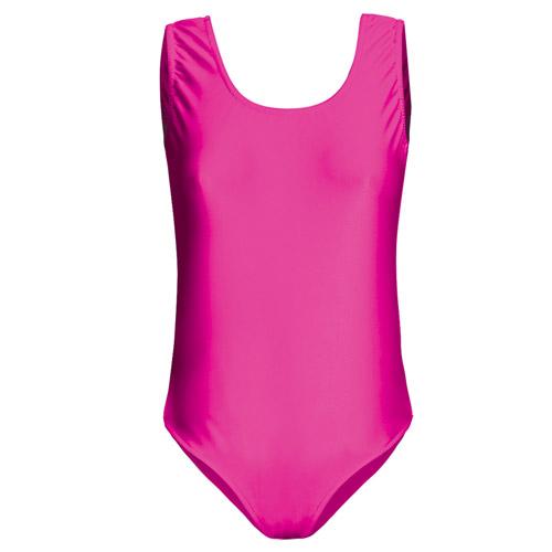 Girls' Hi-Stretch Shiny Sleeveless Leotards - DLTG01S-pink