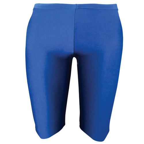 Girls' & Ladies' Hi-Stretch Shiny Dancing Shorts - Girls' & Ladies' Hi-Stretch Shiny Dancing Shorts - DSTG01S-royal-blue