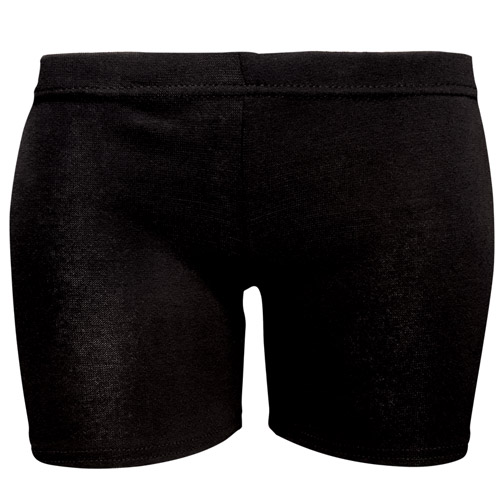 Girls' & Ladies' Stretch Cotton Hot Pants - DSTG02C-black