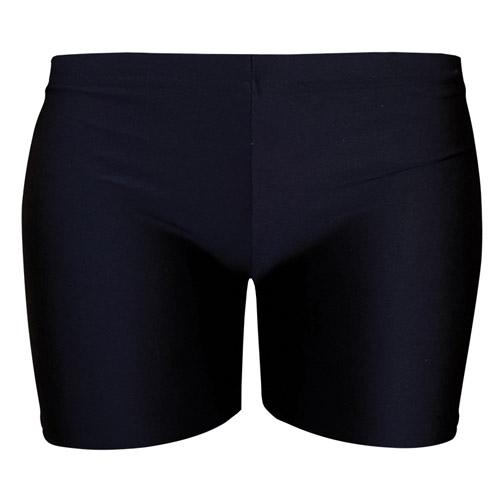 Girls' & Ladies' Hi-Stretch Shiny Hot Pants - DSTG02S-black