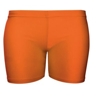 Girls' & Ladies' Hi-Stretch Shiny Hot Pants - DSTG02S-orange