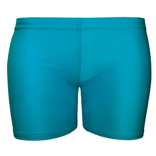 Girls' & Ladies' Hi-Stretch Shiny Hot Pants - DSTG02S-turquoise