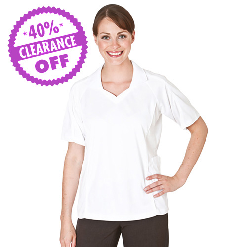 Bowling Top Open V-Neck with Collar (CLEARANCE)