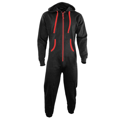 TopSport Hoody Onesie-black-red