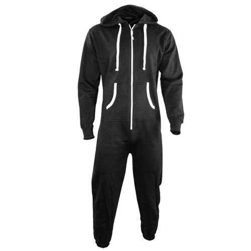 TopSport Hoody Onesie-black-white