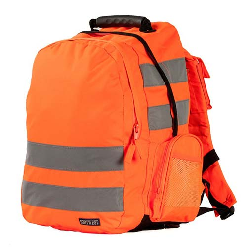 Hi-Vis rucksack - from CKL - £23.15 - 5cm HiVis Tex reflective tape • Reinforced adjustable straps • Waist straps • Padded back panel • Mobile phone pocketWBA905-orange