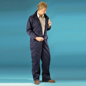 Quilted Boiler Suit-NAVY