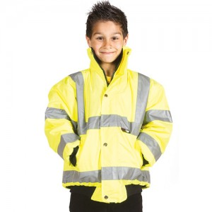 Hi-Vis Bomber Jacket-yellow
